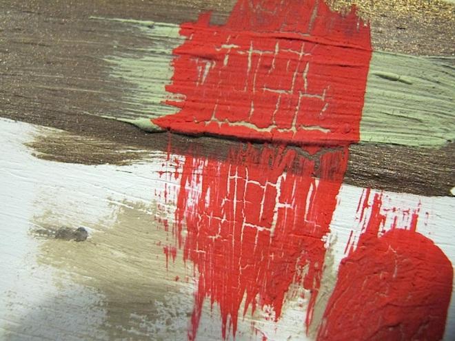 Closeup crackled paint