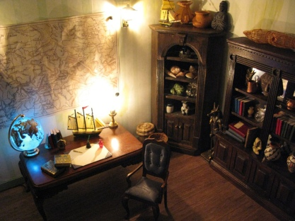 Jules Verne's Steampunk Garden: Office lighting