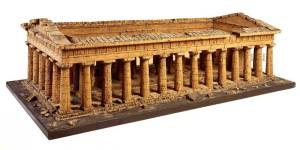 Cork-model-of-the-Temple-of-Zeus-or-Apollo-Paestum-attributed-to-Domenico-Padiglione-c.-1820-to-go-on-display-in-the-restored-Model-Room-on-the-second-floor-of-No-13-Lincolns-Inn-Fields-when-this-opens-to-the-public-in-2016